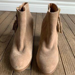 NWOT suede booties. Never worn